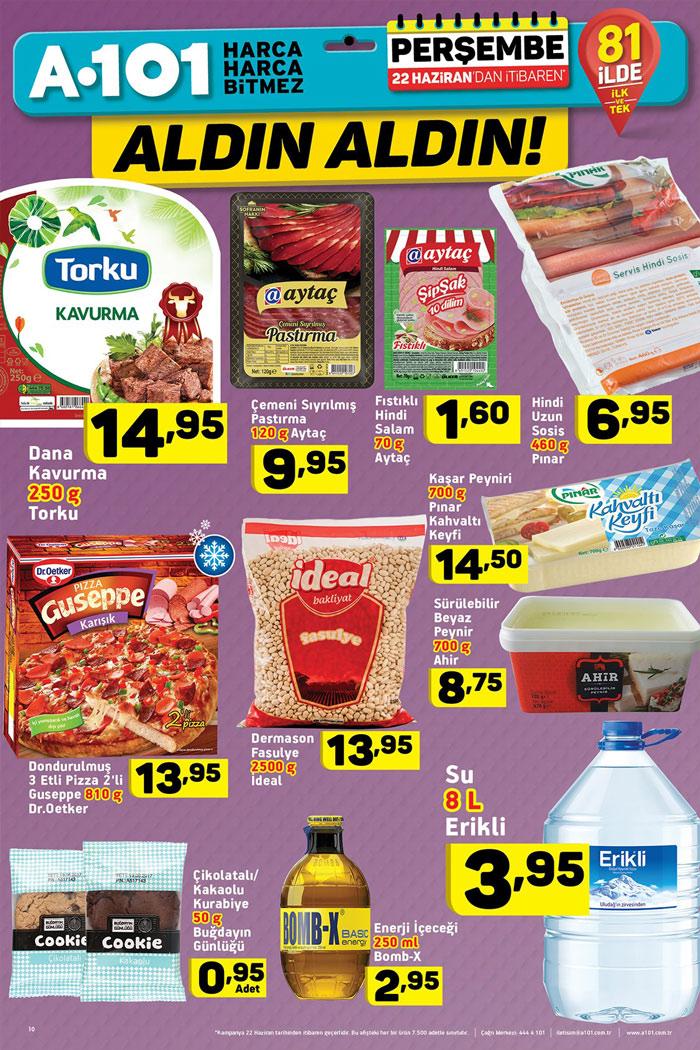 A101 22 Haziran Gıda Aktüel Ürünleri Sayfası