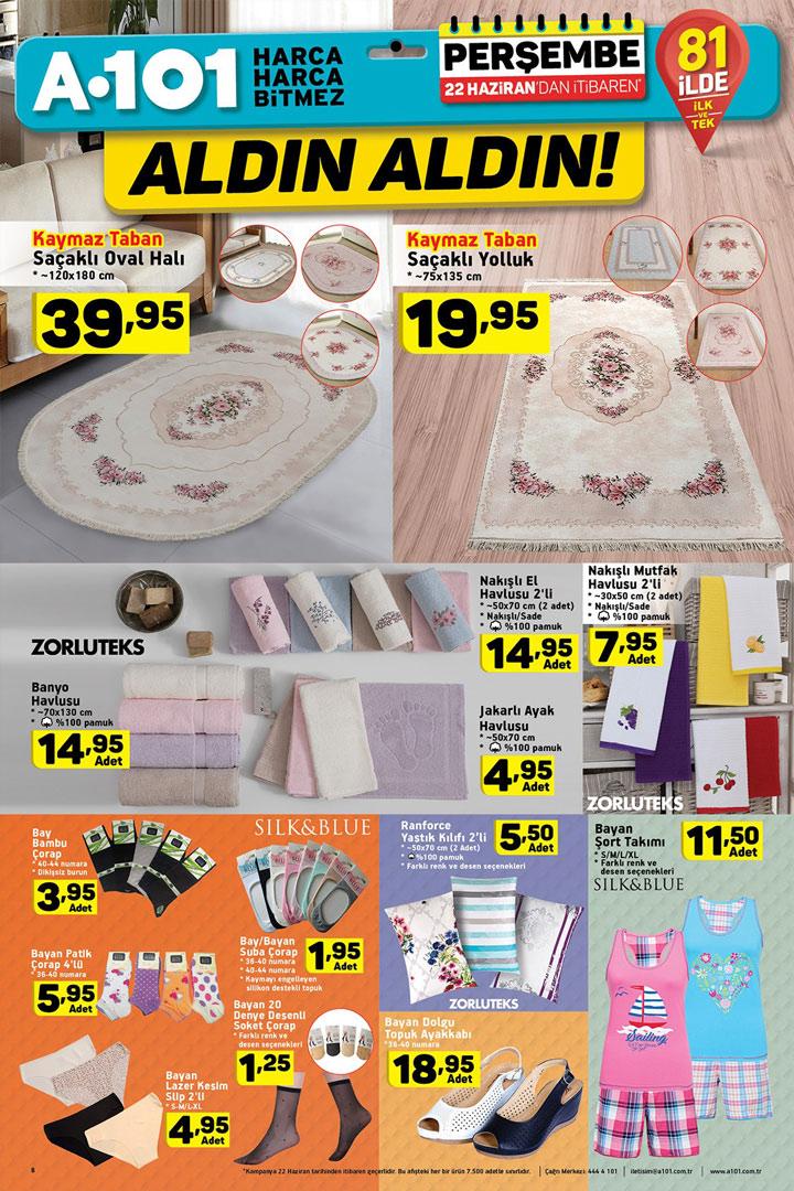 A101 22 Haziran Perşembe Ev Tekstili Aktüel Ürünleri
