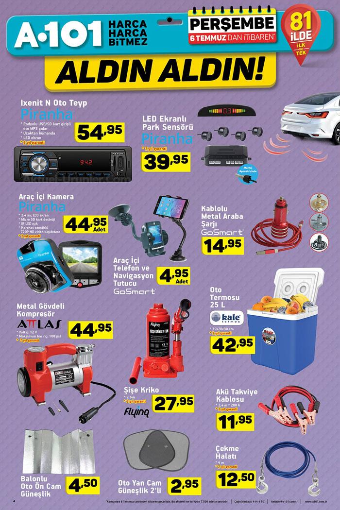 A101 6 Temmuz Araba & Otomobil Aktüel Ürünleri