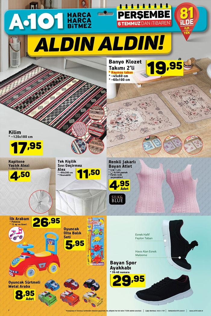 A101 6 Temmuz Ev Tekstili ve Oyuncak Aktüel Fırsatları