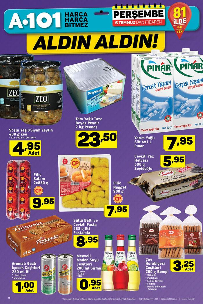 A101 6 Temmuz Gıda Aktüel Ürünleri Kampanyaları