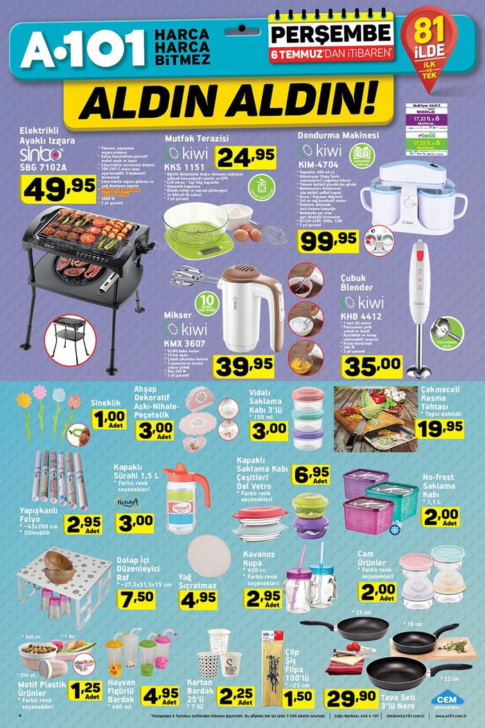A101 6 Temmuz Mutfak Aktüel Ürünleri Sayfası