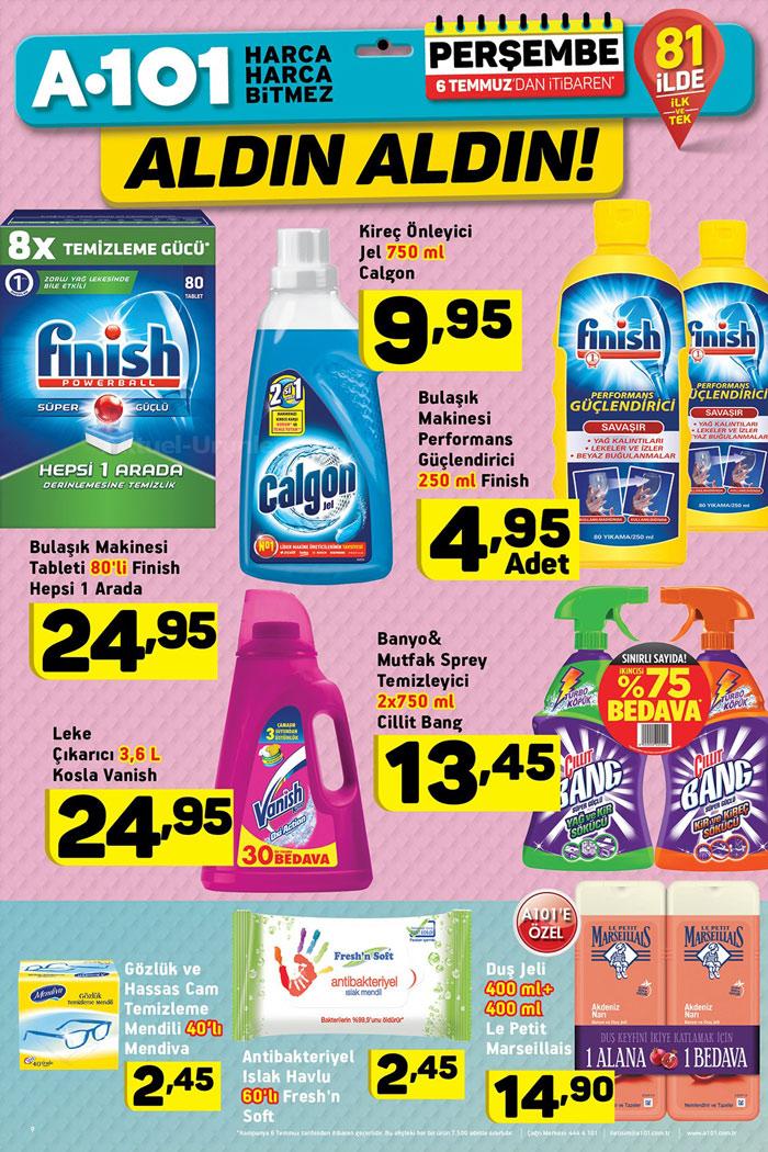 A101 6 Temmuz Temizlik Ürünleri İndirimli Sayfaları