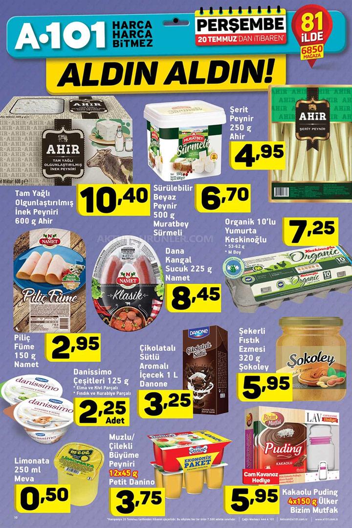A101 20 Temmuz 2017 Gıda Ürünleri Aktüel Fırsatları İndirimleri