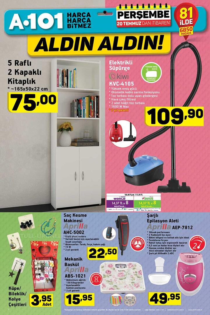 A101 20 Temmuz Kampanyalı Ürün Fırsatları Sayfası