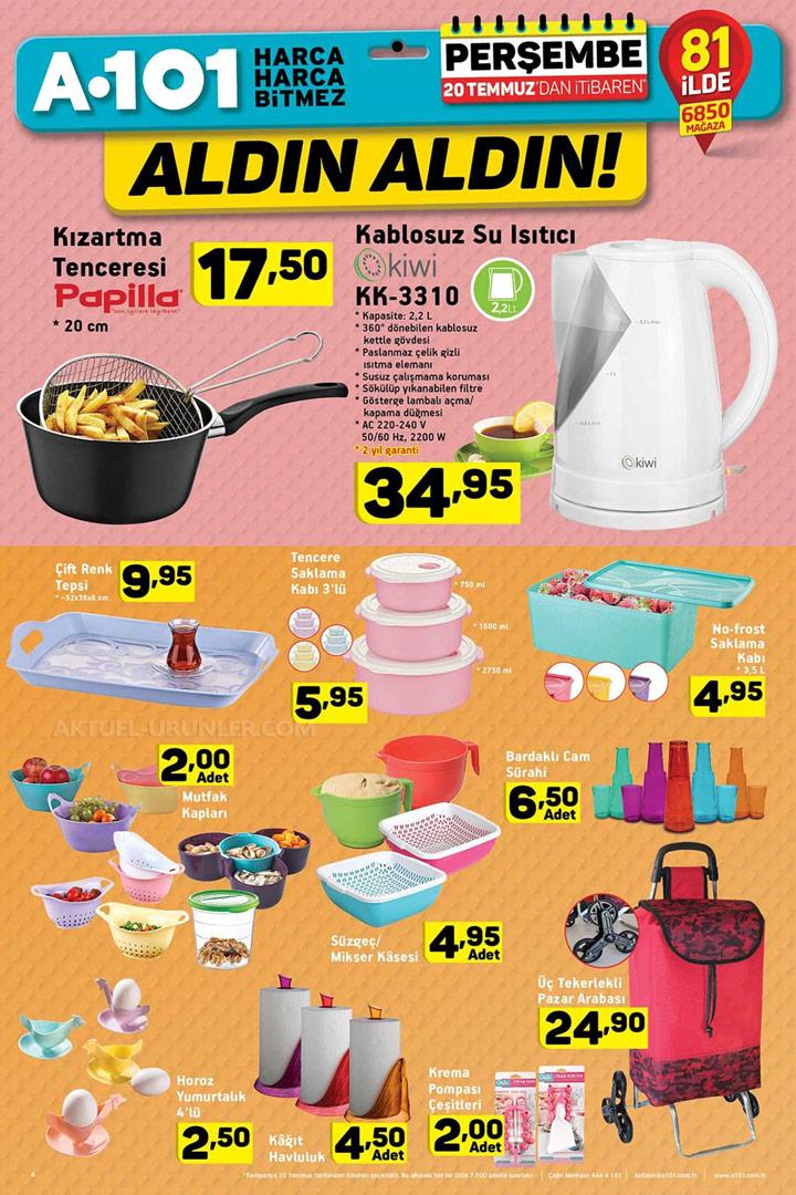 A101 20 Temmuz Mutfak Aktüel Ürünleri