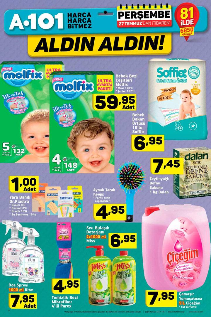 A101 27 Temmuz İtibari ile Gelecek Bebek Aktüel Fırsatları