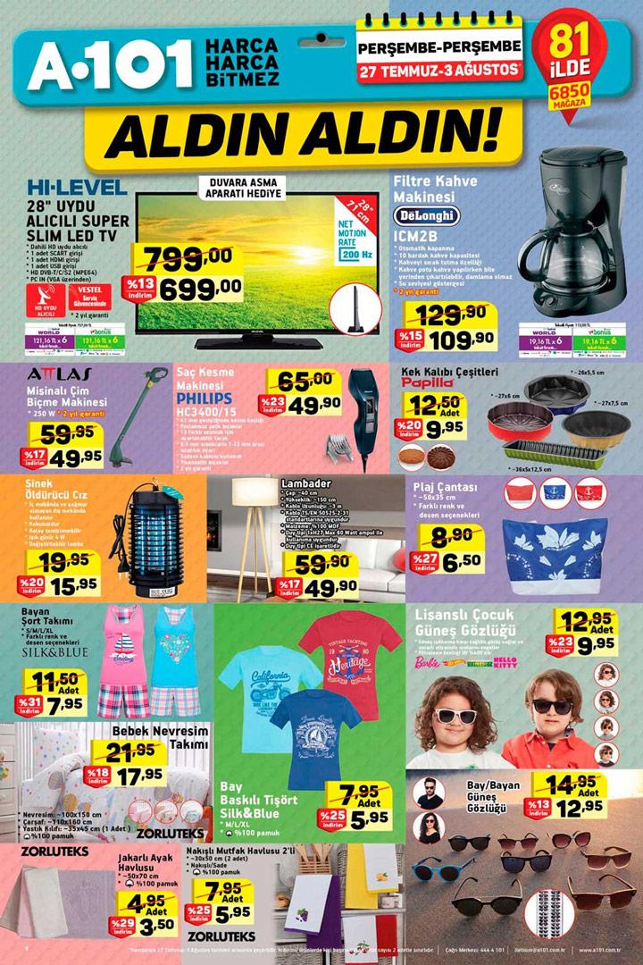 A101 27 Temmuz – 3 Ağustos Aktüel Ürün Kataloğu