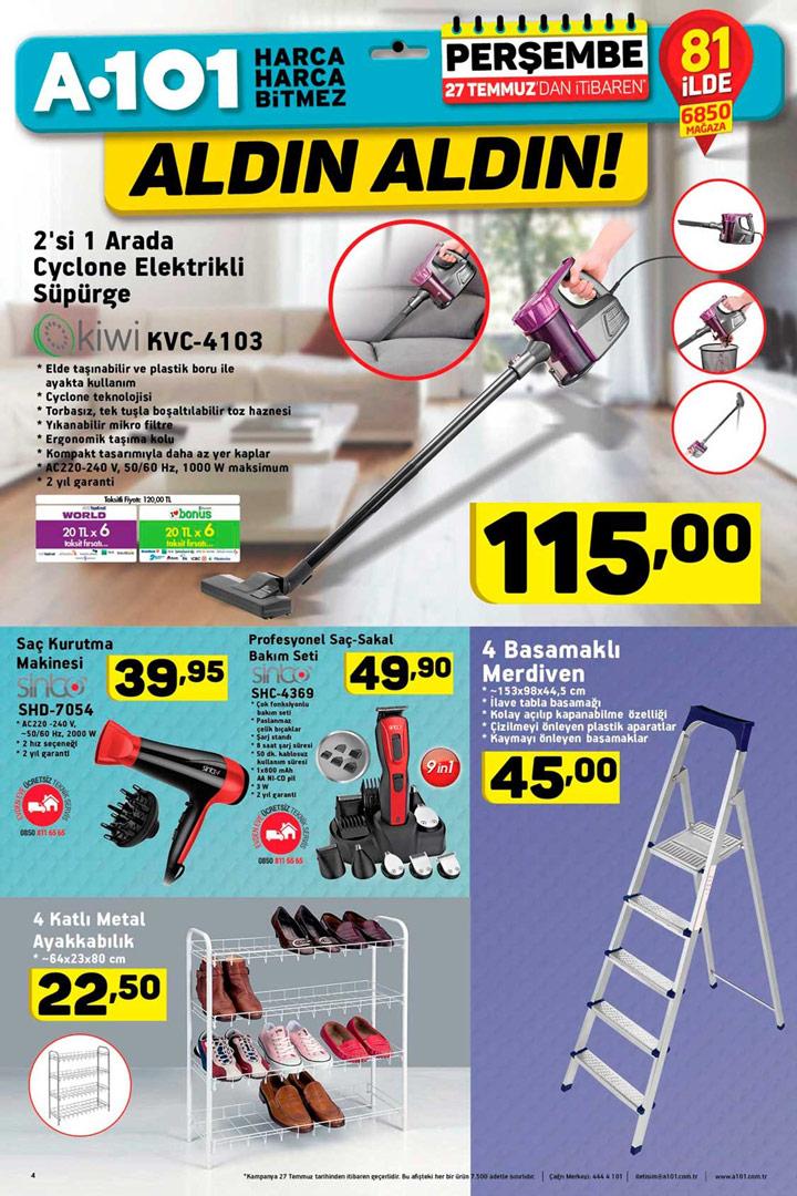 A101 27 Temmuz Aktüel Ürün Katalogları Önemli Fırsatlar