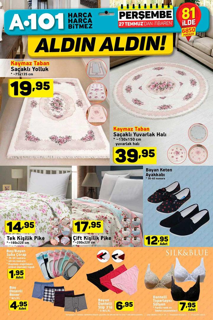 A101 27 Temmuz Ev Tekstili Ürün ve Aktüel Fırsatları