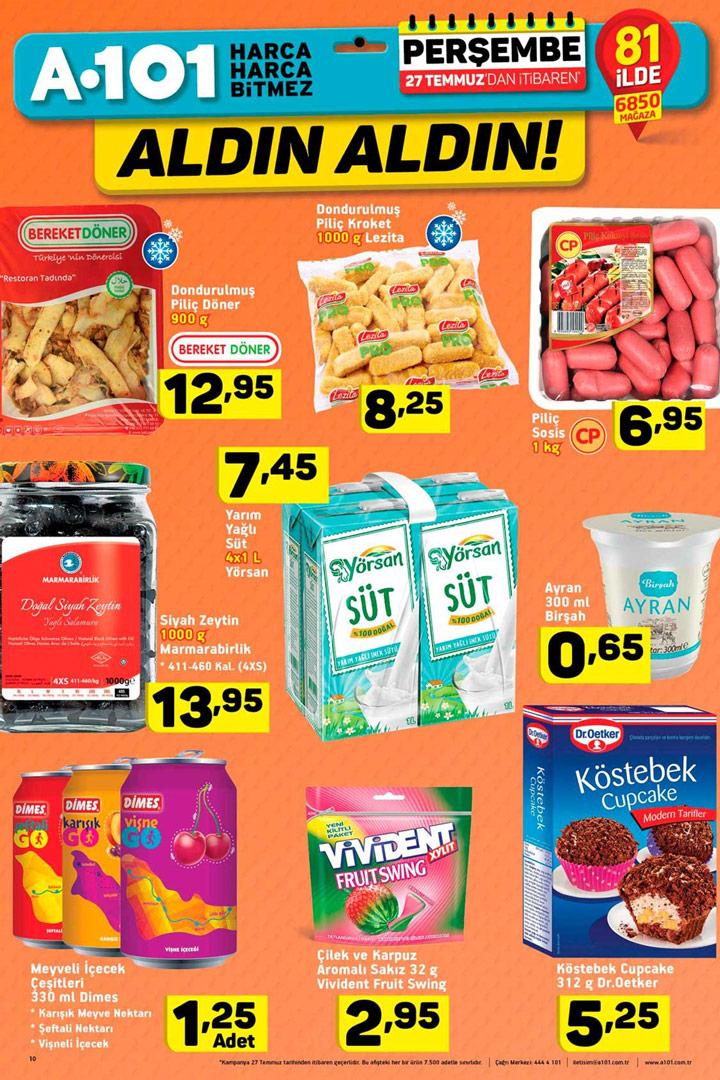 A101 27 Temmuz Gıda Fırsatları Aktüel İndirimleri