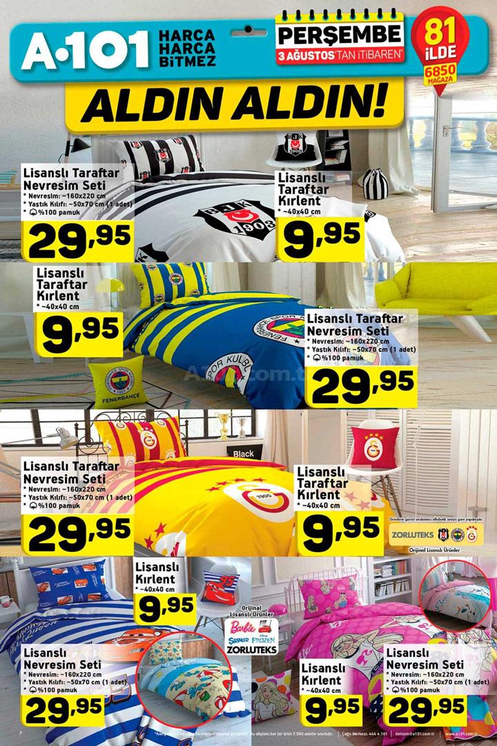 A101 3 Ağustos Aktüel Ürünler Kataloğu Lisanslı Ürünler