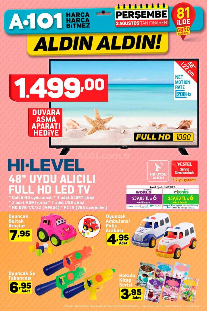 A101 3 Ağustos Aktüel Elektronik Ürünler Sayfası