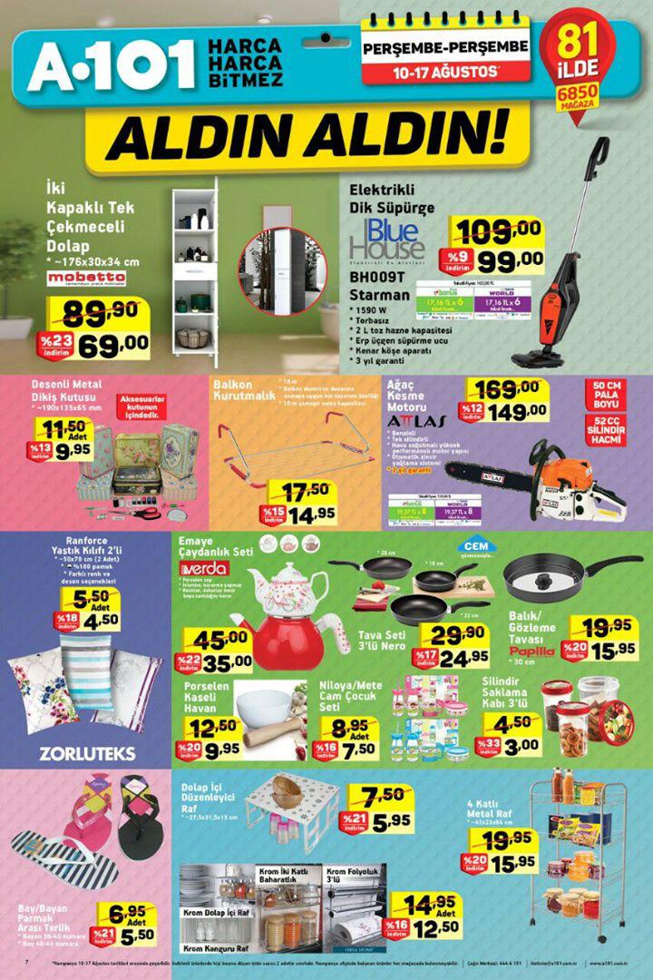 A101 10 – 17 Ağustos Aktüel Ürünler Kataloğu