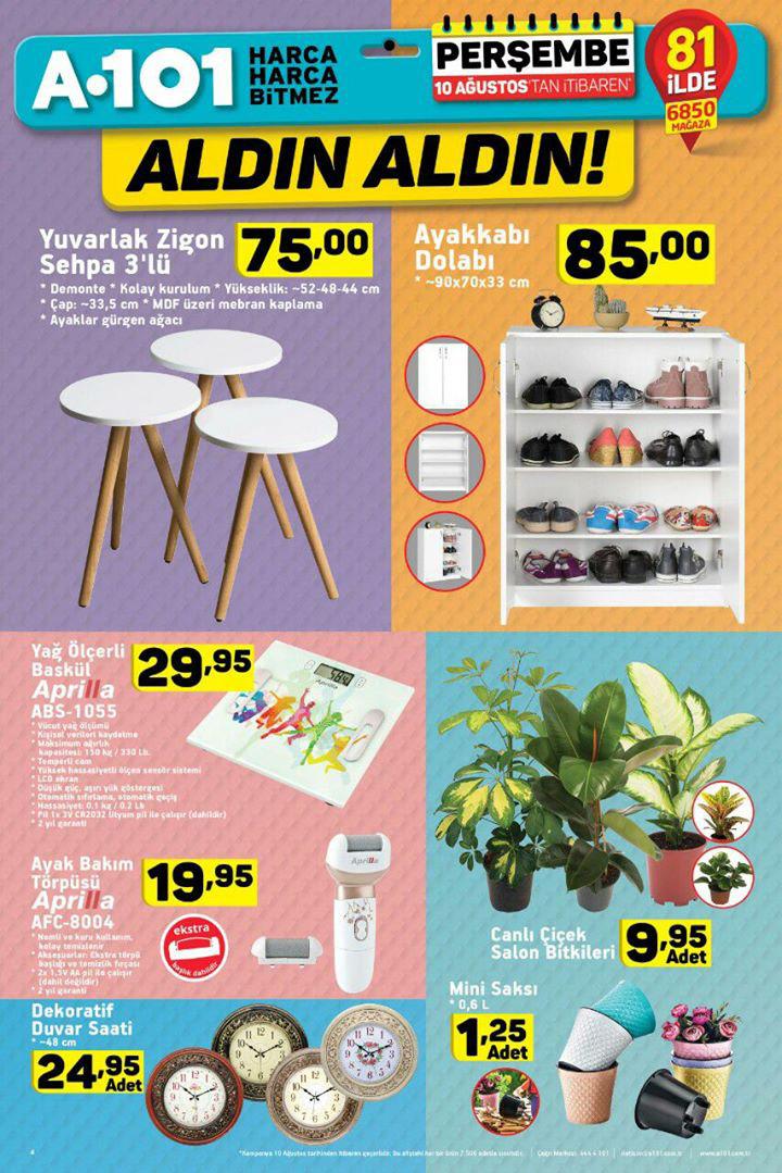 A101 10 Ağustos Dekorasyon Aktüel Ürün Sayfası