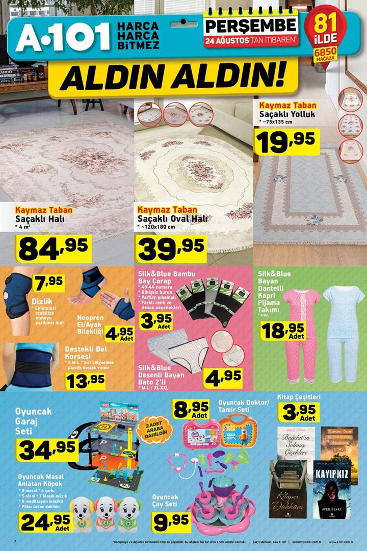 A101 24 Ağustos Ev Tekstili Aktüel Ürün İndirimleri