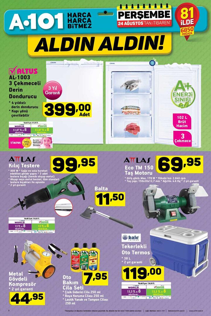 A101 24 Ağustos Kurban Bayramı Özel İndirimli Ürünleri