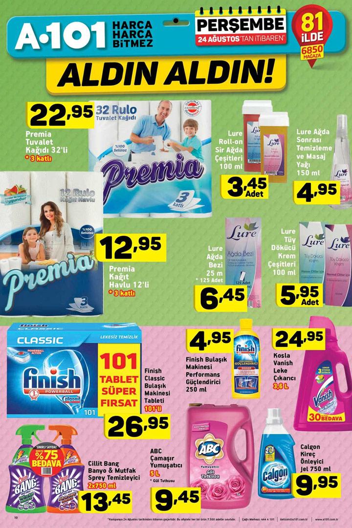 A101 24 Ağustos Temizlik ve Hijyen Aktüel Ürünleri