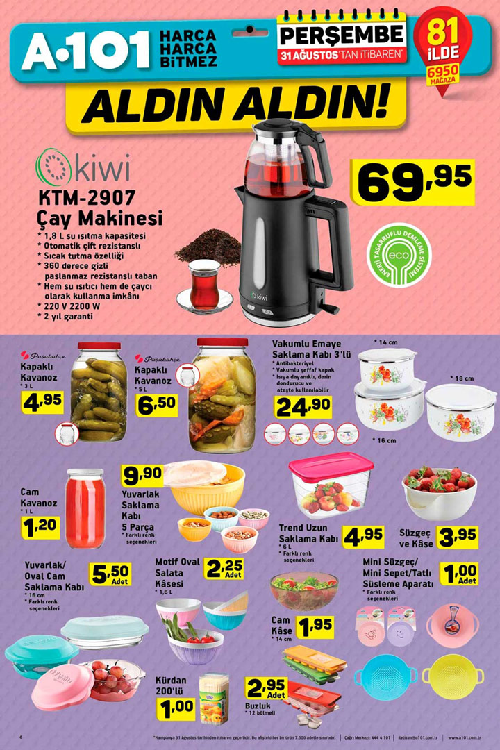 A101 31 Ağustos Mutfak İçin Gerekli Aktüel Ürünler