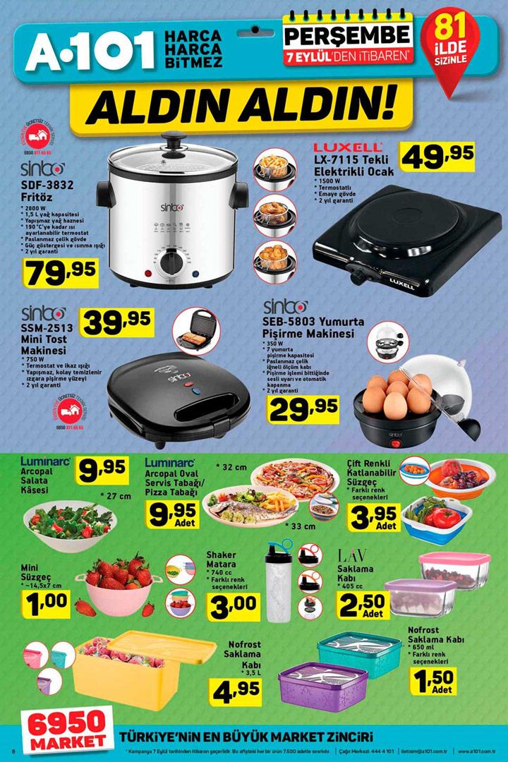 A101 7 Eylül Perşembe Aktüel Pişirme Ürünü İndirimleri