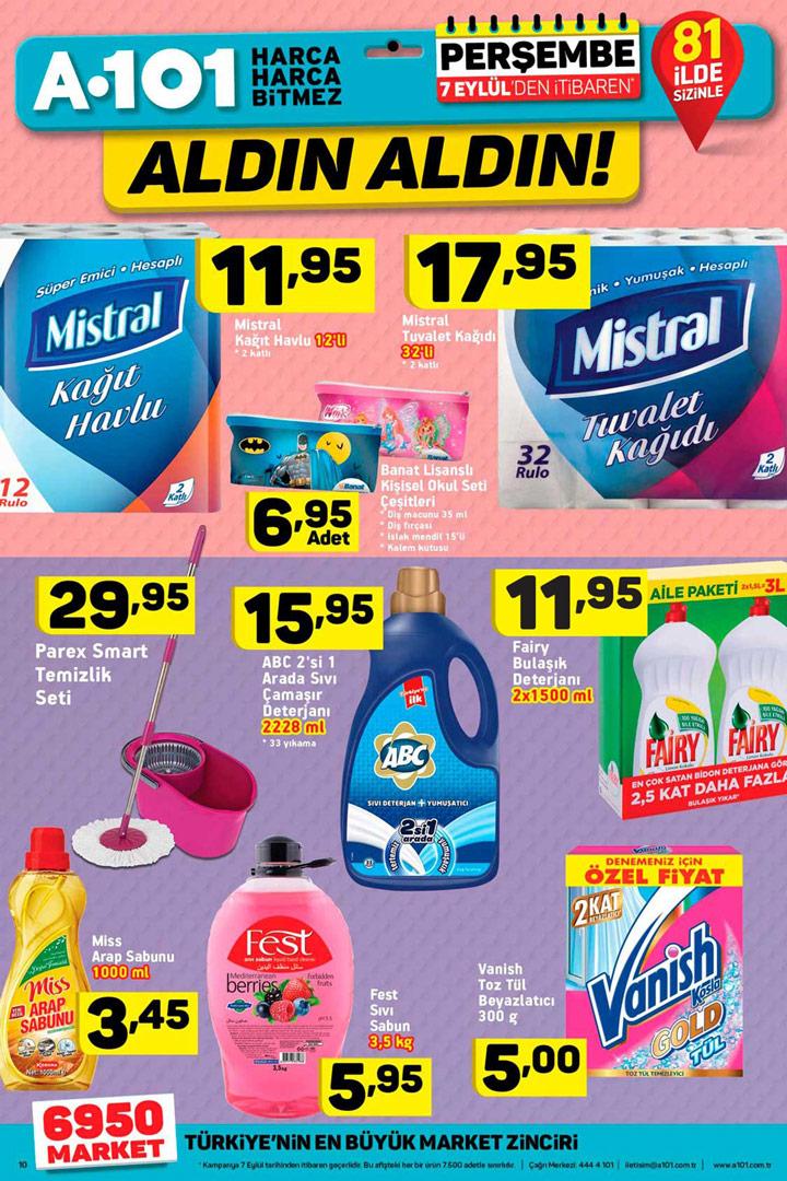 A101 7 Eylül Temizlik Aktüel Ürün İndirimleri İncelemesi