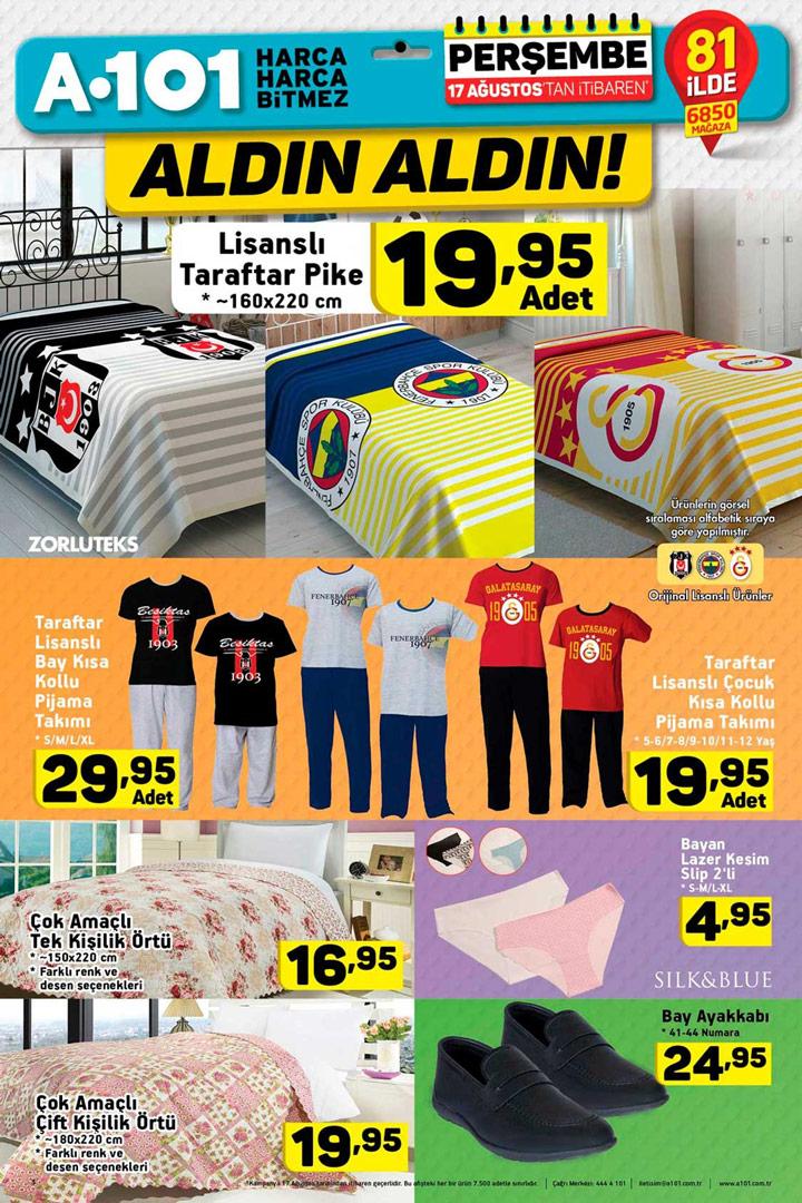 A101 Aktüel 17 Ağustos Ev Tekstili Fırsatları ve Kampanyaları
