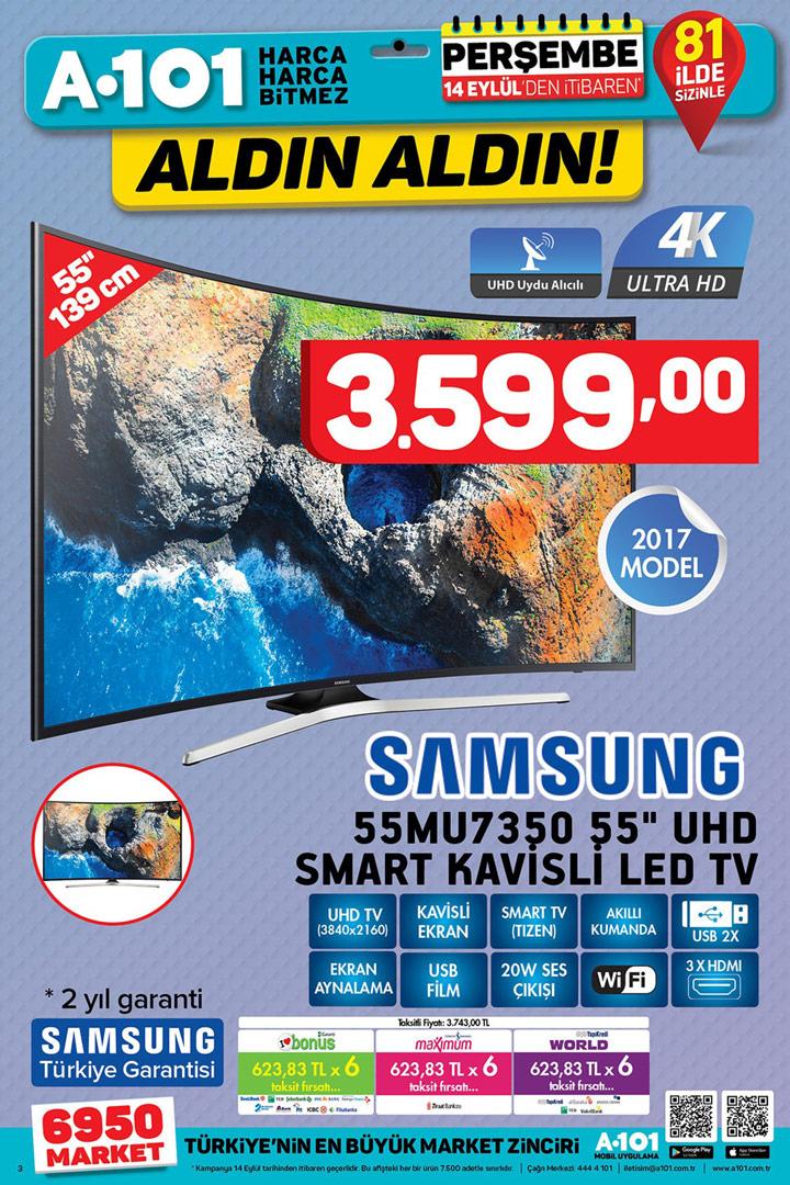 A101 14 Eylül Aktüel Fırsatları & Samsung 55MU7350