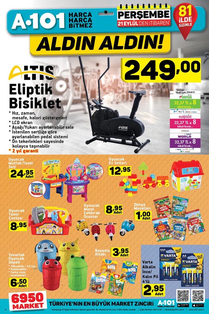 A101 21 Eylül Aktüel Ürün Fırsatları ve Kampanyaları