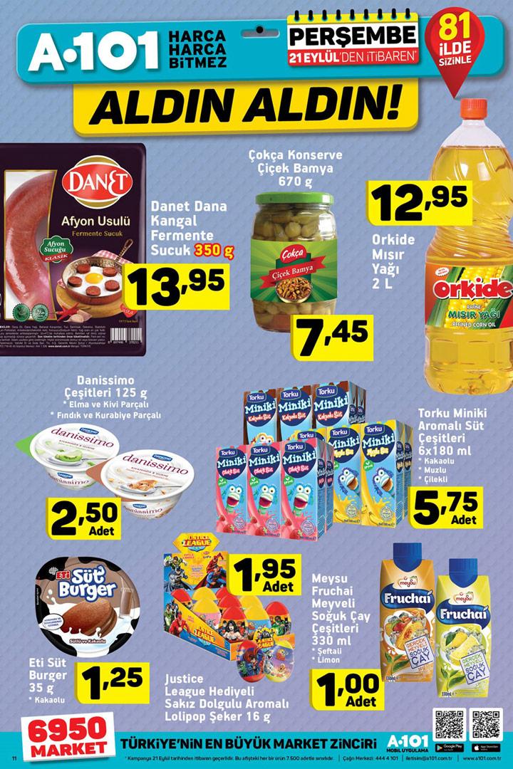 A101 21 Eylül Gıda Aktüel Ürün Fırsat Kataloğu
