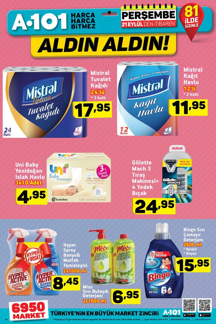 A101 21 Eylül Temizlik Ürünleri Aktüel İndirimleri