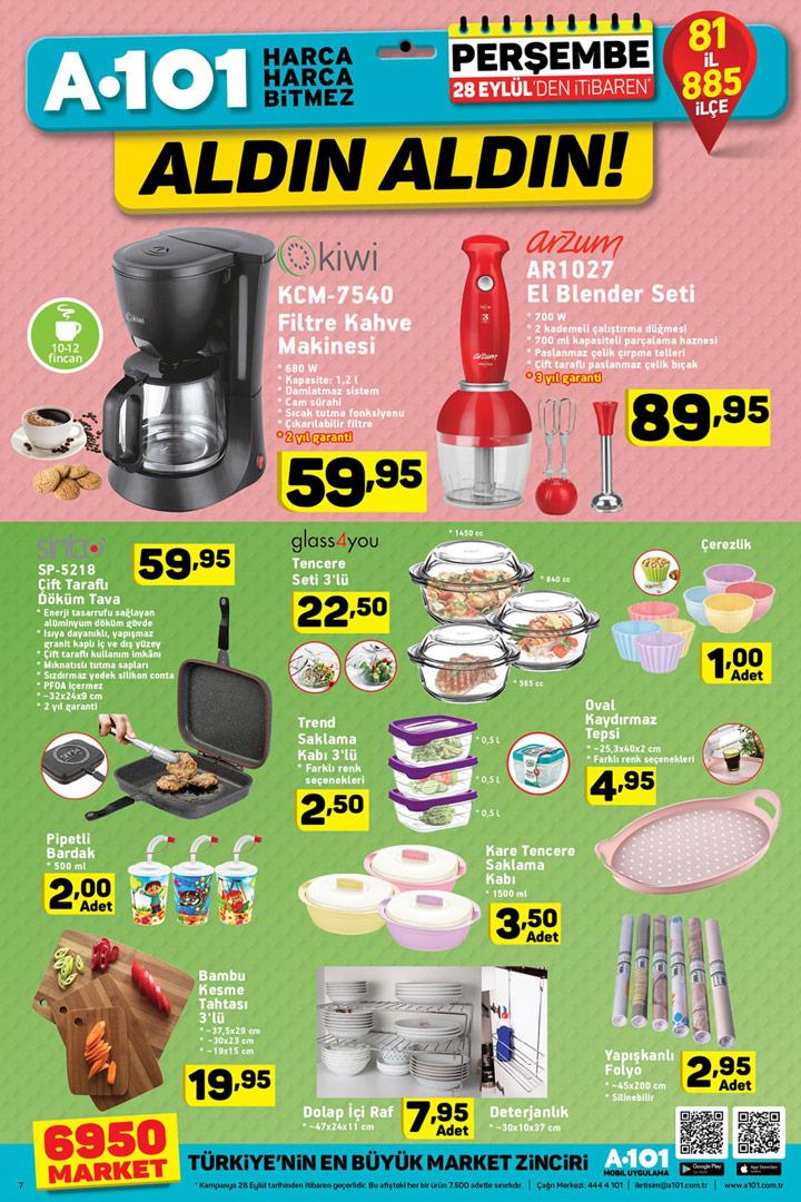 A101 28 Eylül Aktüel Mutfak Ürünleri Yeni İndirimleri