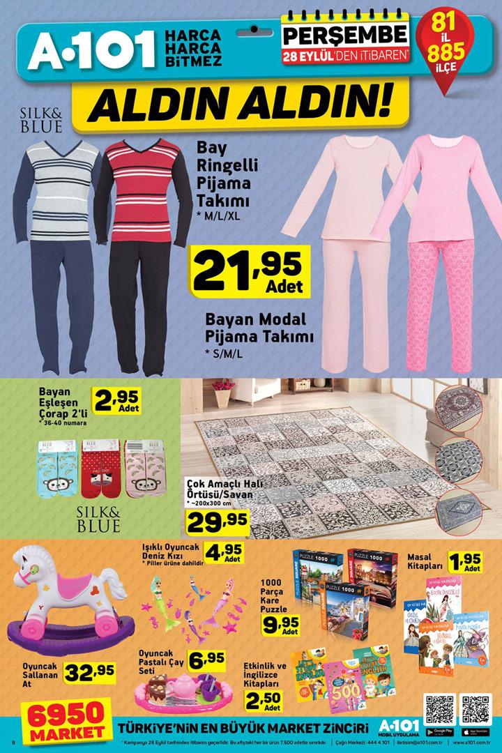 A101 28 Eylül Ev Tekstili ve Oyuncak Aktüel Ürün Sayfası