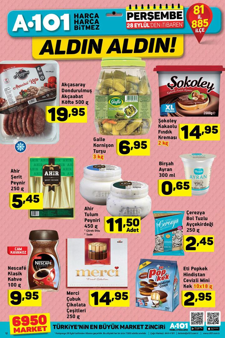 A101 28 Eylül Perşembe Gıda Aktüel Ürün Sayfası