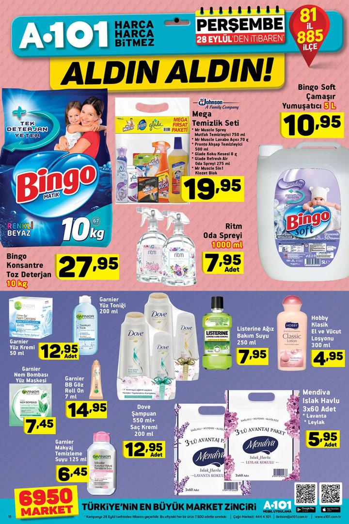 A101 28 Eylül Temizlik & Kişisel Bakım Aktüel Ürünleri101