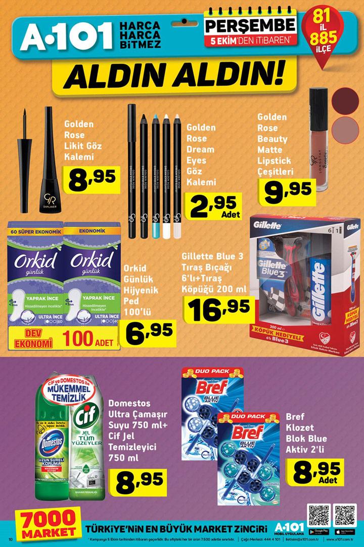 A101 5 Ekim Makyaj ve Kişisel Bakım Aktüel Ürünleri