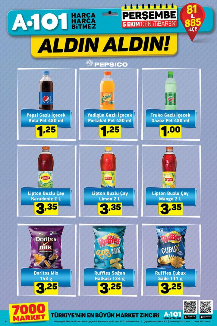 A101 5 Ekim Pepsico Aktüel İndirimli Ürünleri