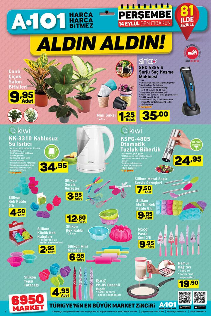 A101 Aktüel 14 Eylül Perşembe Muhteşem Fiyatlı Ürünler