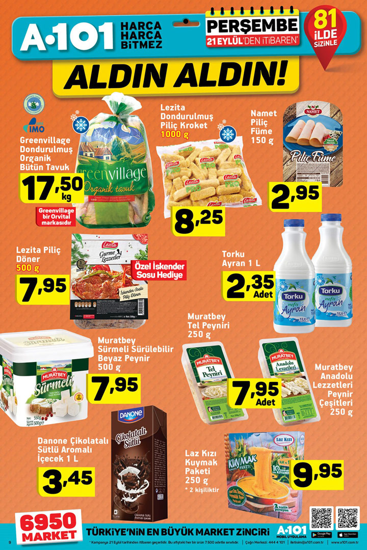 A101 Aktüel Gıda Fırsatları 21 Eylül Detayları