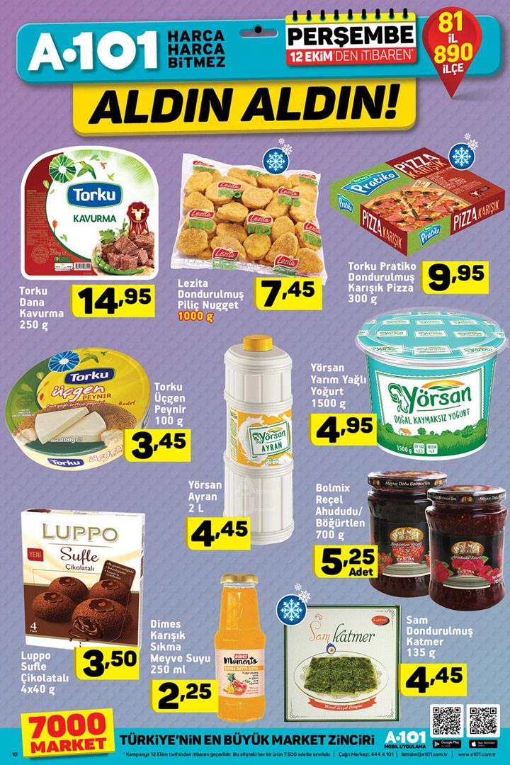 A101 12 Ekim Aldın Aldın Gıda Ürünü İndirimleri
