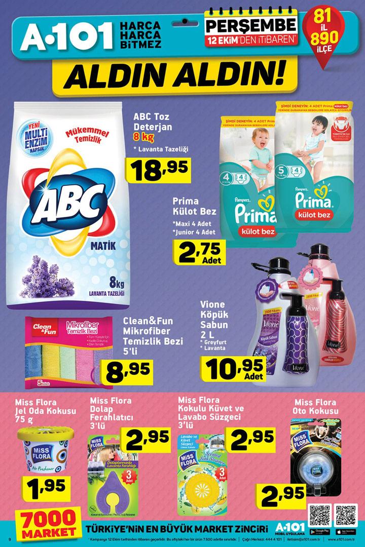 A101 12 Ekim Aldın Aldın Temizlik Aktüel Fırsatları