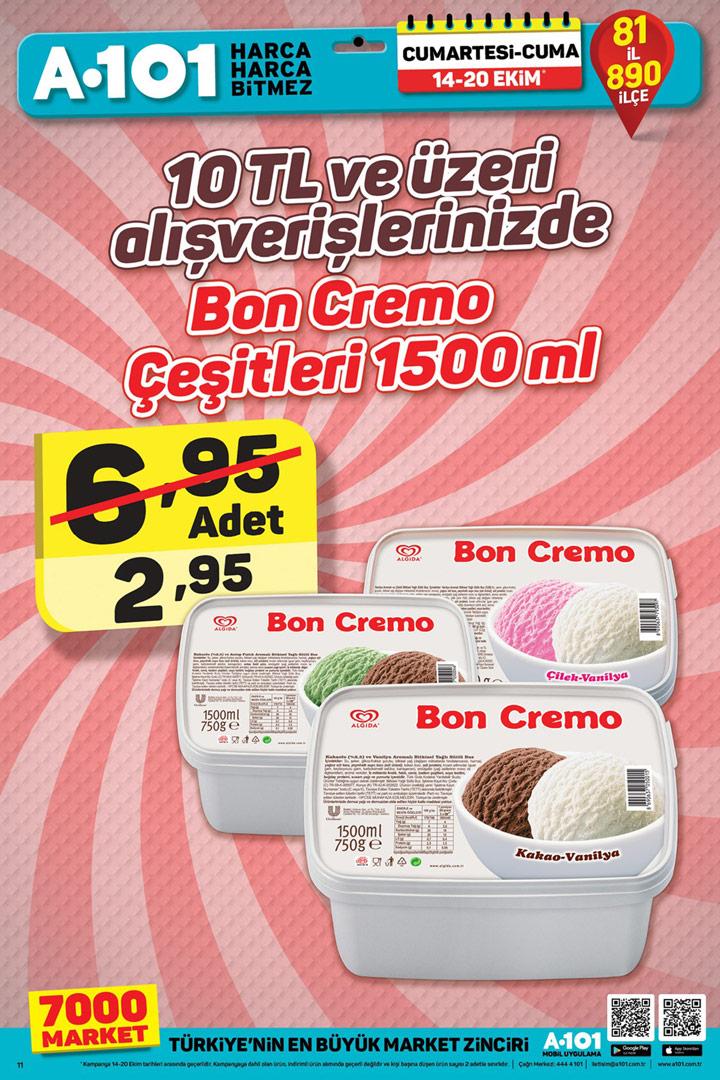 A101 14 & 20 Ekim Aktüel Dondurma İndirimi