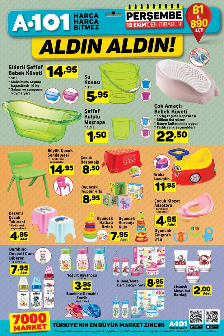 A101 19 Ekim 2017 Bebek Aktüel Ürünleri