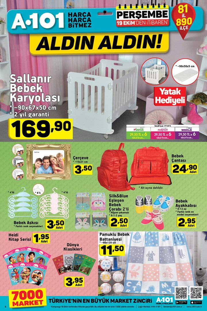 A101 19 Ekim Aktüel Bebek Ürünleri Kataloğu