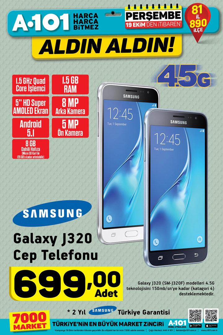 A101 19 Ekim Samsung Galaxy J320 İncelemesi Hakkında
