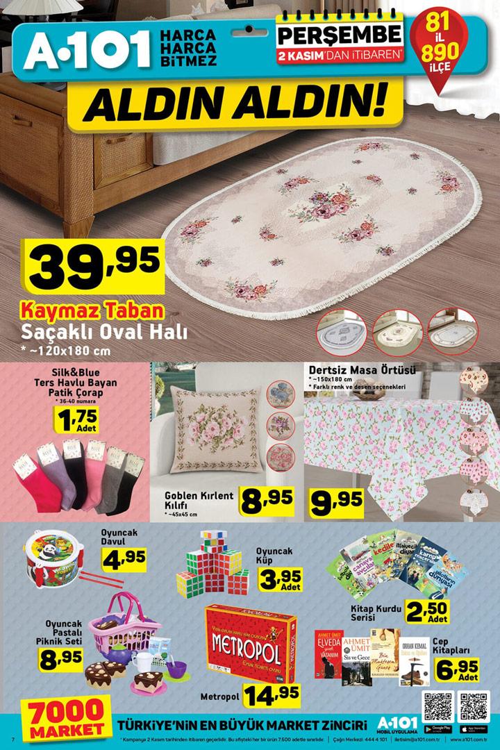 A101 2 Kasım Aktüel Ev Tekstili ve Oyuncak Kataloğu