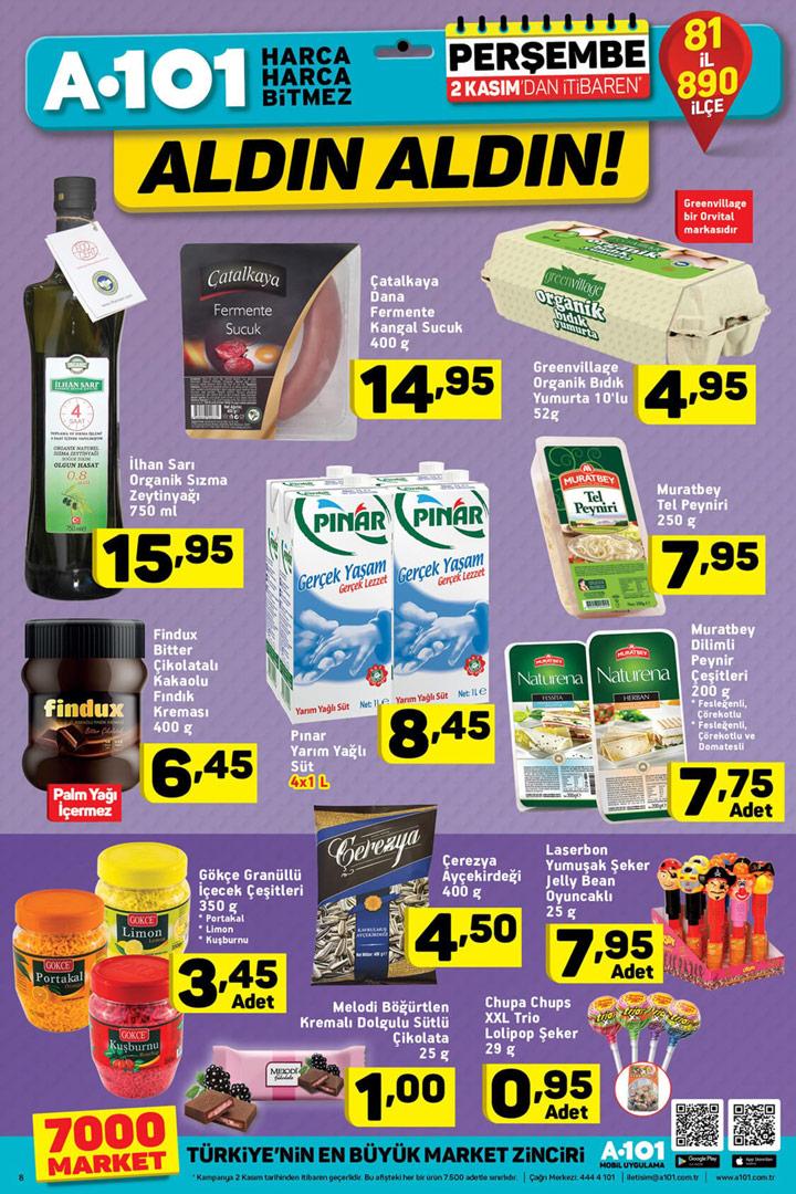 A101 2 Kasım Gıda ve Tüketim Aktüel Ürün Sayfası