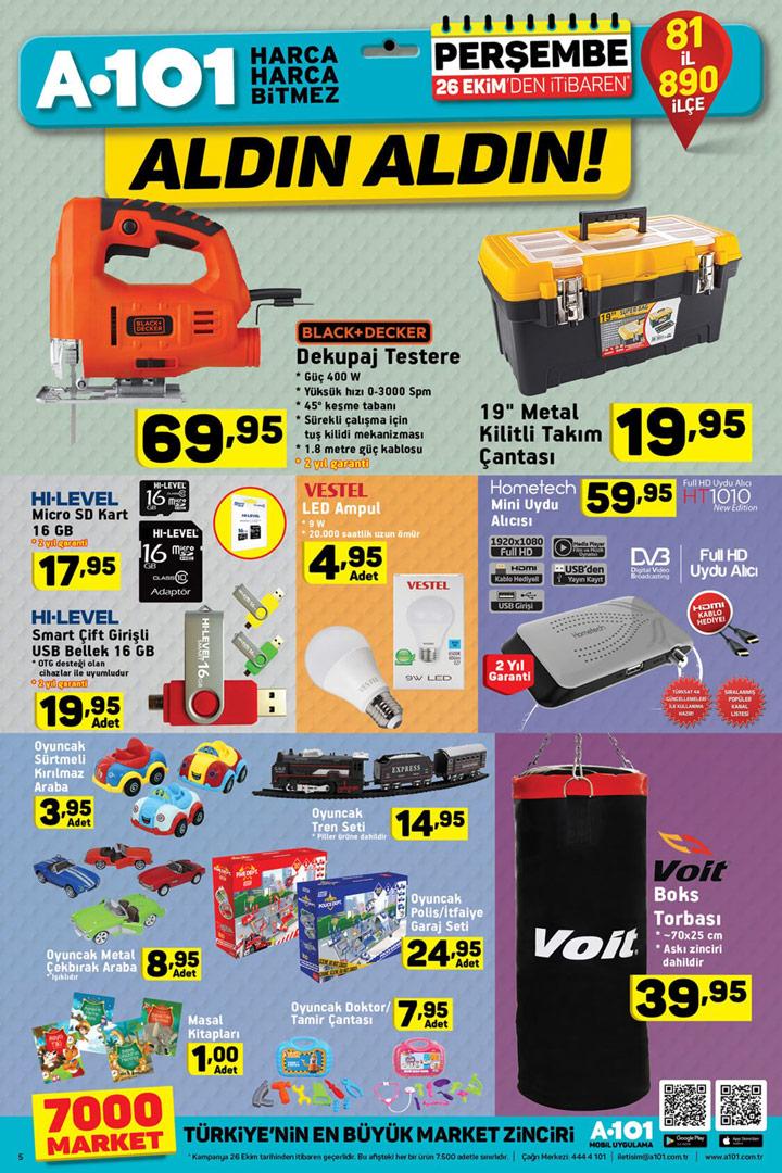 A101 26 Ekim Aktüel Fırsat Dolu Ürünler Sayfası