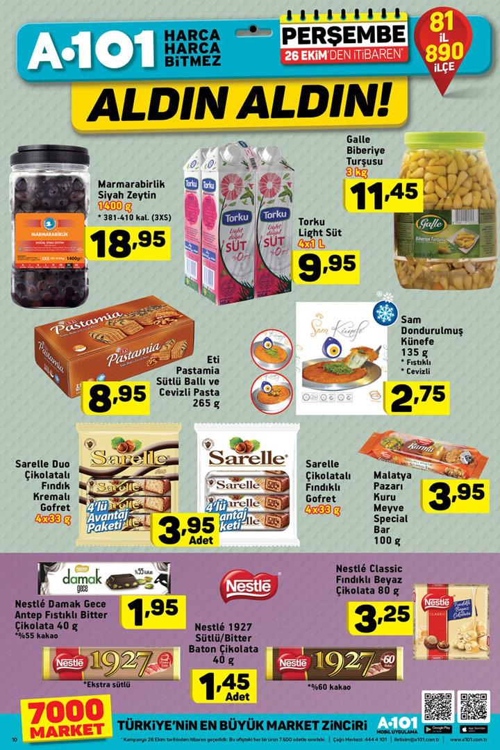 A101 26 Ekim Aktüel Gıda Ürün Fırsatları