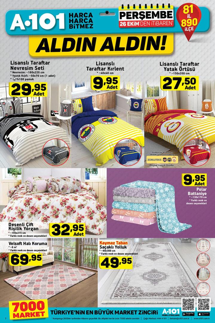 A101 26 Ekim Ev Tekstili Aktüel Ürün Kataloğu