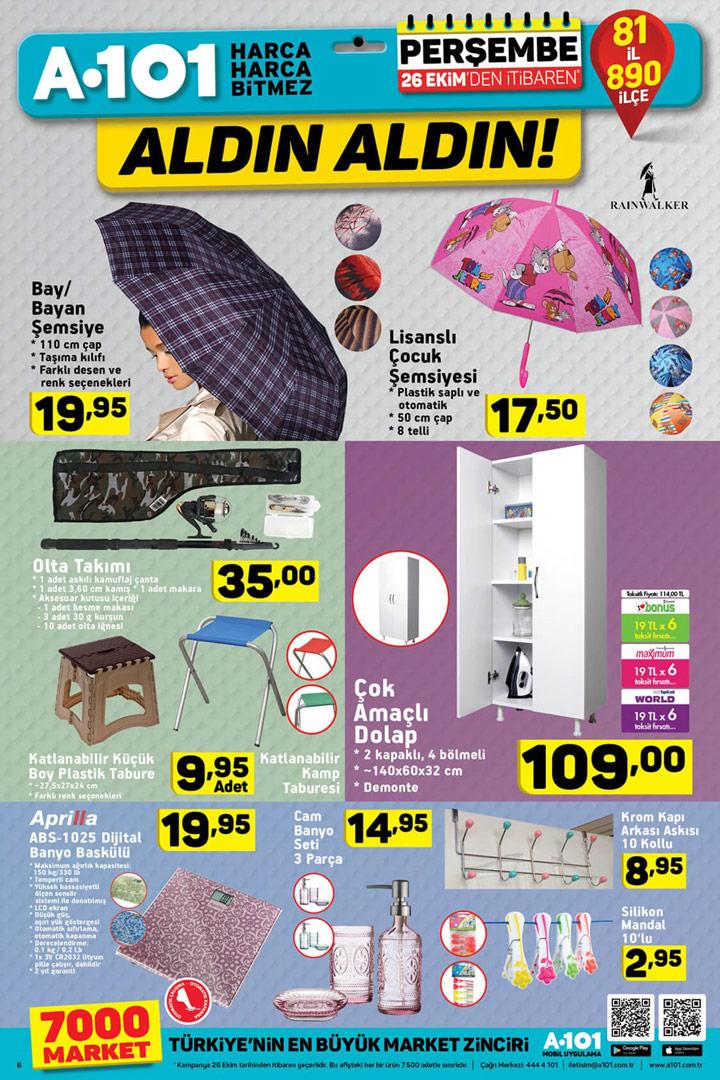 A101 26 Ekim Sonbahar Özel Aktüel Ürünleri